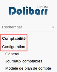 Configuration comptabilité Dolibarr